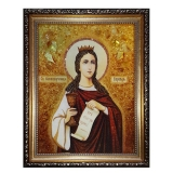 The Amber Icon The Holy Great Martyr Varvara 30x40 cm