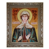 Amber Icon Holy Martyr Lydia 15x20 cm