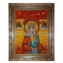 The Amber Icon of the Holy Martyr Valeria 80x120 cm - фото