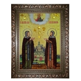 The Amber Icon Saint Peter and Fevronia 30x40 cm