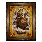 The Amber Icon of the Most Holy Theotokos 30x40 cm