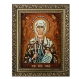 The Amber Icon of the Holy Martyr Zoya 15x20 cm