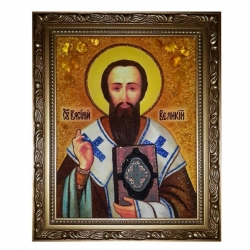 The Amber Icon St Basil the Great 60x80 cm - фото