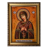 Amber Icon of the Holy Mother Seven Sisters 30x40 cm