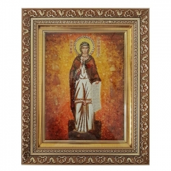 The Amber Icon The Holy Martyr Antonina of Nicaea 40x60 cm - фото