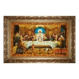The Amber Icon of the Last Supper 30x40 cm