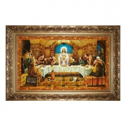 Amber Icon of the Last Supper 60x80 cm - фото