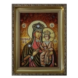 Amber Icon of the Blessed Virgin Mary of Ozyory 60x80 cm
