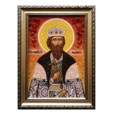 The amber icon The Holy Prince Vladimir Equal-to-the-Apostles 40x60 cm