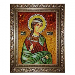 The Amber Icon The Holy Martyr Rufina of Caesarea 60x80 cm - фото