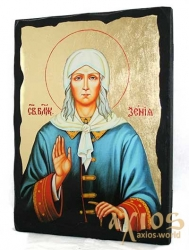 The icon under the antiquity The Blessed Saint Xenia of Petersburg with gilding 30x42 cm - фото