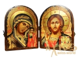 Icons under the old days Wedding couple folded double 34x23 cm