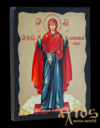 Icon under the antiquity The Blessed Virgin The indestructible wall with gilding 30x42 cm - фото