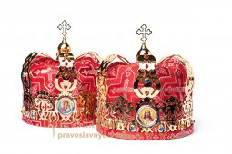 The wedding crowns, gilt - фото