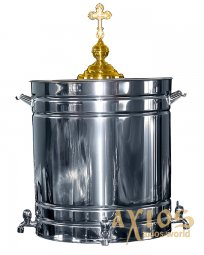 Holy water Basin, color - silver, 75 l - фото