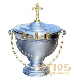 Holy Water Basin, with lid, 1,5 l - фото