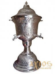Holy Water Basin, Greece, 104-859, 9 l, chasing, silver - фото