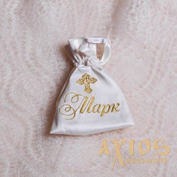 Embroidery design of the name, «Mon Amoure», in gold (1) - фото