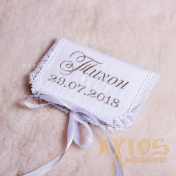 Embroidery design of the name, «Mon Amoure», in silver (1) - фото