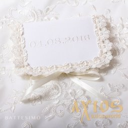 Date embroidery (format - 02/02/2016), white color (5) - фото