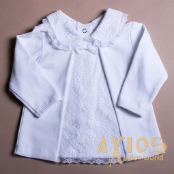 Jacket with guipure, white (lil_006) - фото