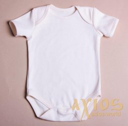 Body with short sleeves, milky color (n_001) - фото