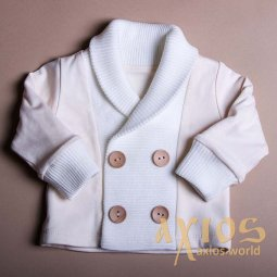 Jacket with collar, milky color (nb_006) - фото