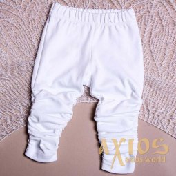 Pants narrow with assembly, white color (ng_001) - фото