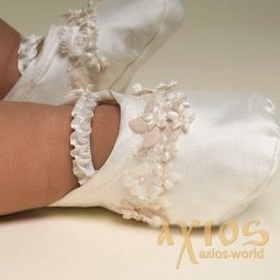 Booties Eva, white color (909) - фото