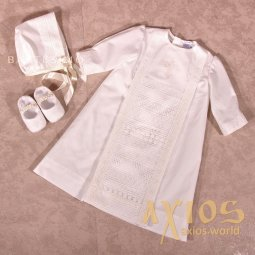 Shirt for the baptism of a boy Bead (10-317), milk color - фото