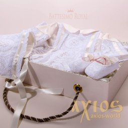 Baptismal set, Exclusive August collection, (hat, shirt, booties) - фото