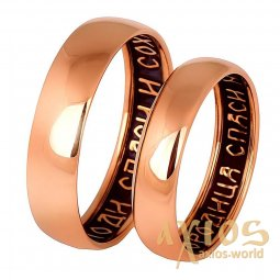 Ring «Bless and save», gold 585, with blackening, О обр00860 - фото