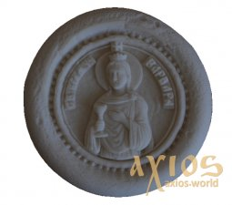 Name stamp, saint Great Martyr Barbara (67 mm) - фото