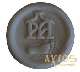 Name stamp, Footprint of the Most Holy Mother of God of Pochaev (64 mm) - фото