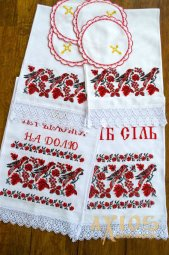Set of Wedding Towels  number 80-16 with birds - фото