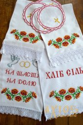 Set of Wedding Towels  number 80-21, with poppies - фото