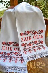 Embroidered wedding rushnyk under the loaf №72-02, 180х35 cm - фото