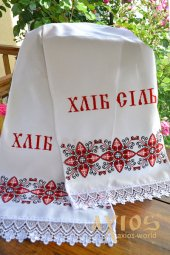 Embroidered wedding towel for loaf No.72-22, 180х35 cm - фото