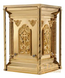 Altar metal No. 2, gilding with brass cornices for varnish, enamel - фото
