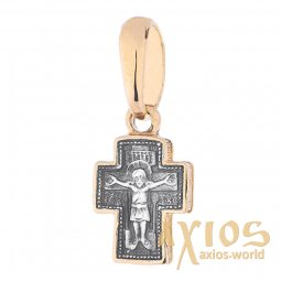 Neck cross, silver 925 ° with gilding and blackening, 20x08 mm, O 131802 - фото