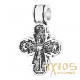 Neck cross, silver 925 ° with blackening, 25x18 mm, O 132162 - фото