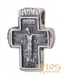 The cross «Angel of the Lord. John the Baptist», silver 925 ° with blackening, 19x19 mm, O 13359 - фото