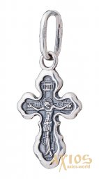 Native cross «Save and save», silver 925 °, with blackening 25x10 mm, O 131964 - фото