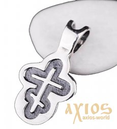 Neck cross, silver 925 °, with blackening 20x10 mm, O 131719 - фото