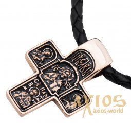 Neck cross, gold 585 °, with blackening 28x20 mm, О п02577 - фото