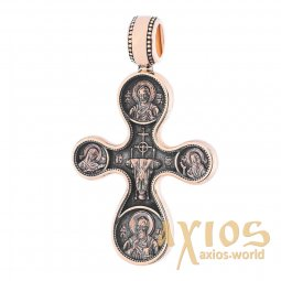 The natest cross «Etimasiya. Eight Saints », gold 585 °, with blackening 36x22 mm, О п02662 - фото
