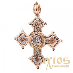 Neck cross, gold 585, О п00578 - фото