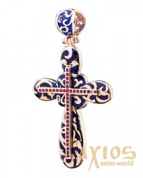 Neck cross, gold 585, 60x35mm, О 270056 - фото
