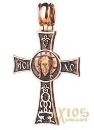 Neck cross, gold 585 with blackening, 35x20mm, О п02417 - фото
