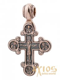 The cross «Crucifixion», gold 585, 50x30mm, О п02670 - фото